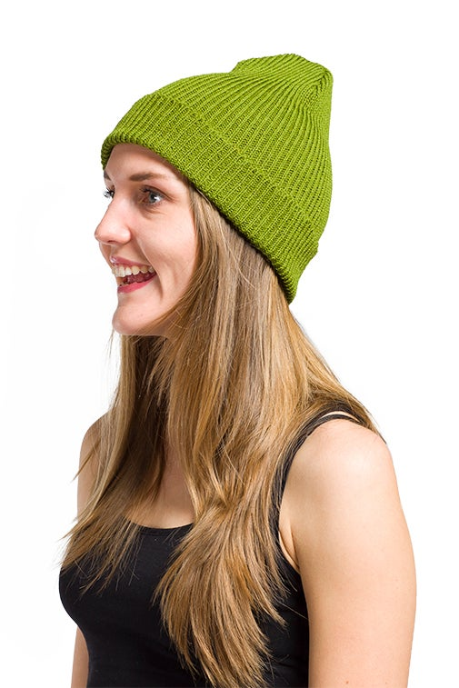 Image of WOOLEN BEANIE Bright green