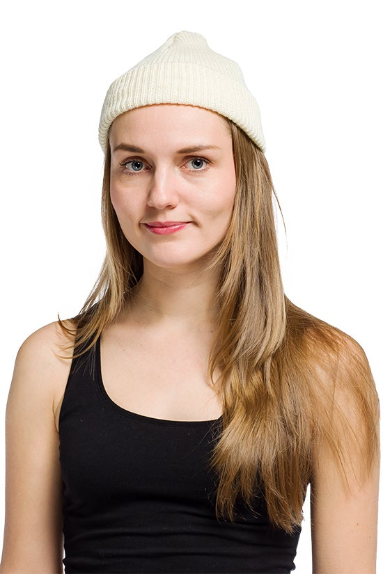 Image of WOOLEN BEANIE White