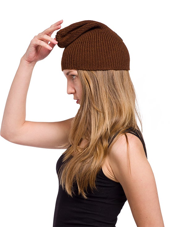 Image of WOOLEN BEANIE Brown