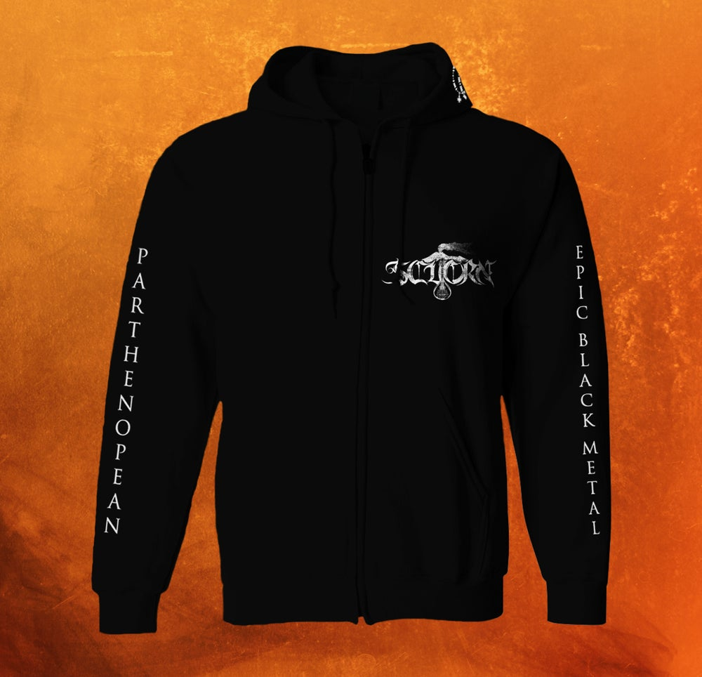 Image of PARTHENOPEAN EPIC BLACK METAL HOODIE ZIP