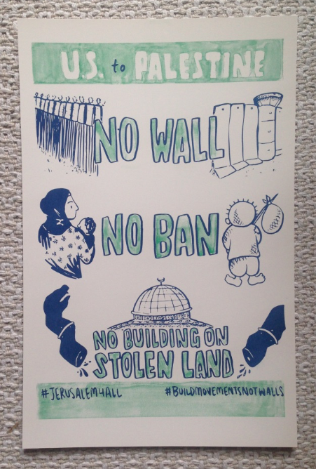 Image of US to Palestine Riso Poster
