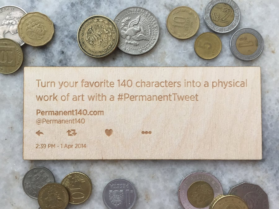 Image of #PermanentTweet desk plaque