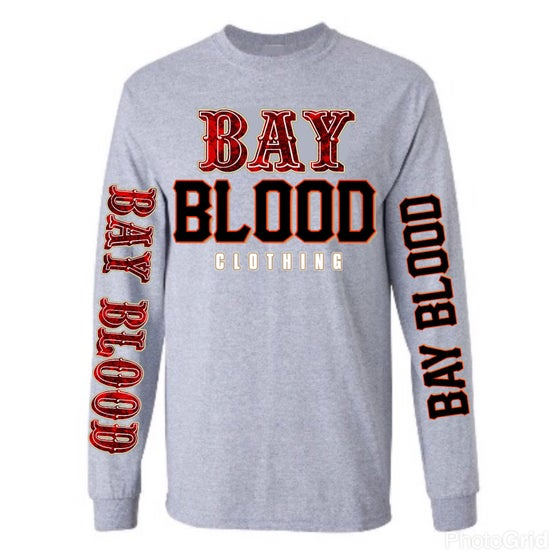 "Image of ""Frisco"" Bay Blood Long Sleeve Tee (grey)"