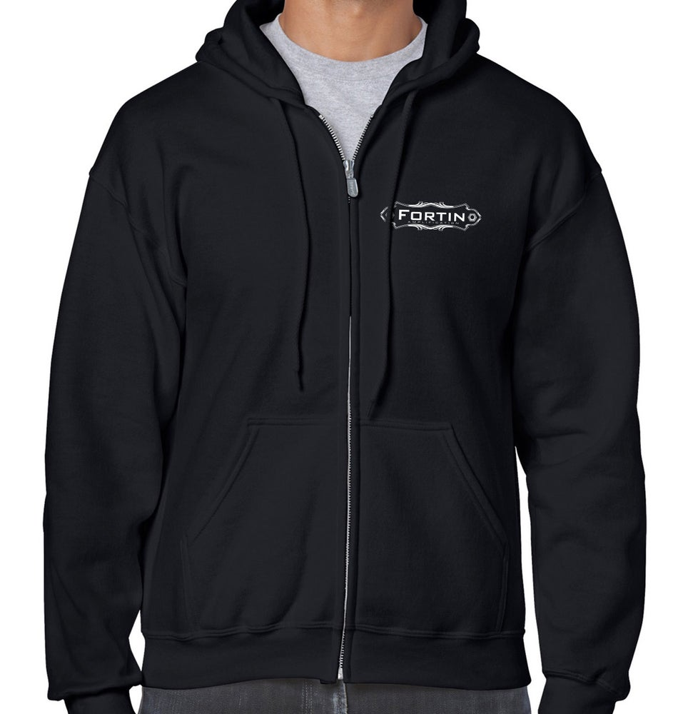 Image of Fortin Long Sleeve Zip-Up Hoodie - Black