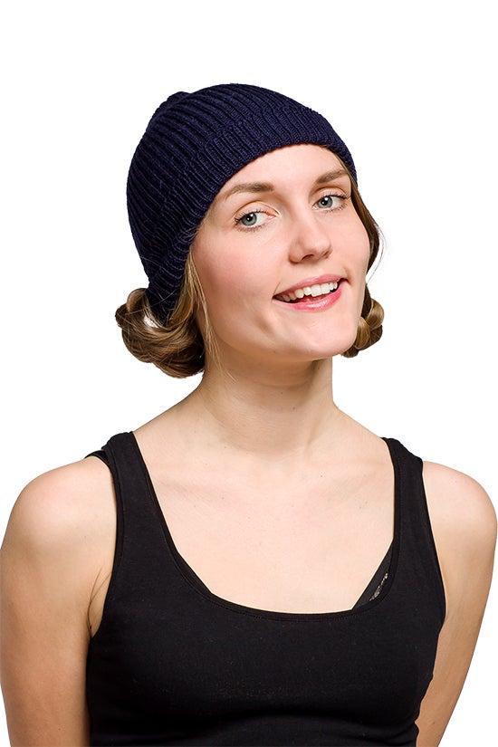 Image of WOOLEN BEANIE Navy blue