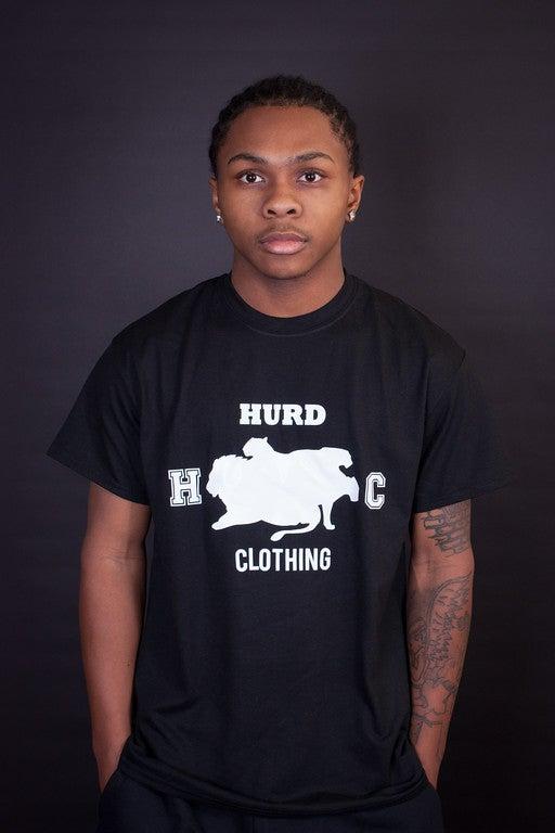 Image of white hurd logo t shirt