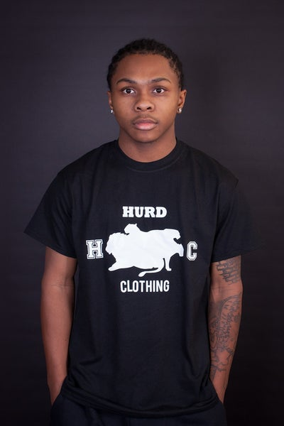Image of white hurd logo t shirt