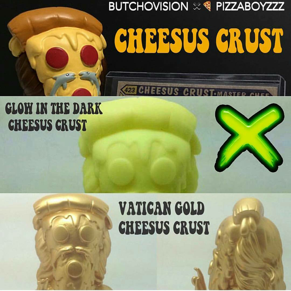 Image of CHEESUS CRUST VINYL FIGURES (4 different limited edition variants to choose from))