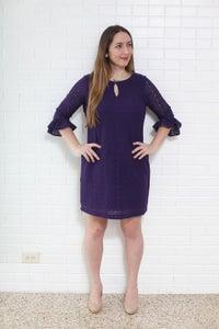 Image of Purple Lace Maggie London Shift Dress- 12