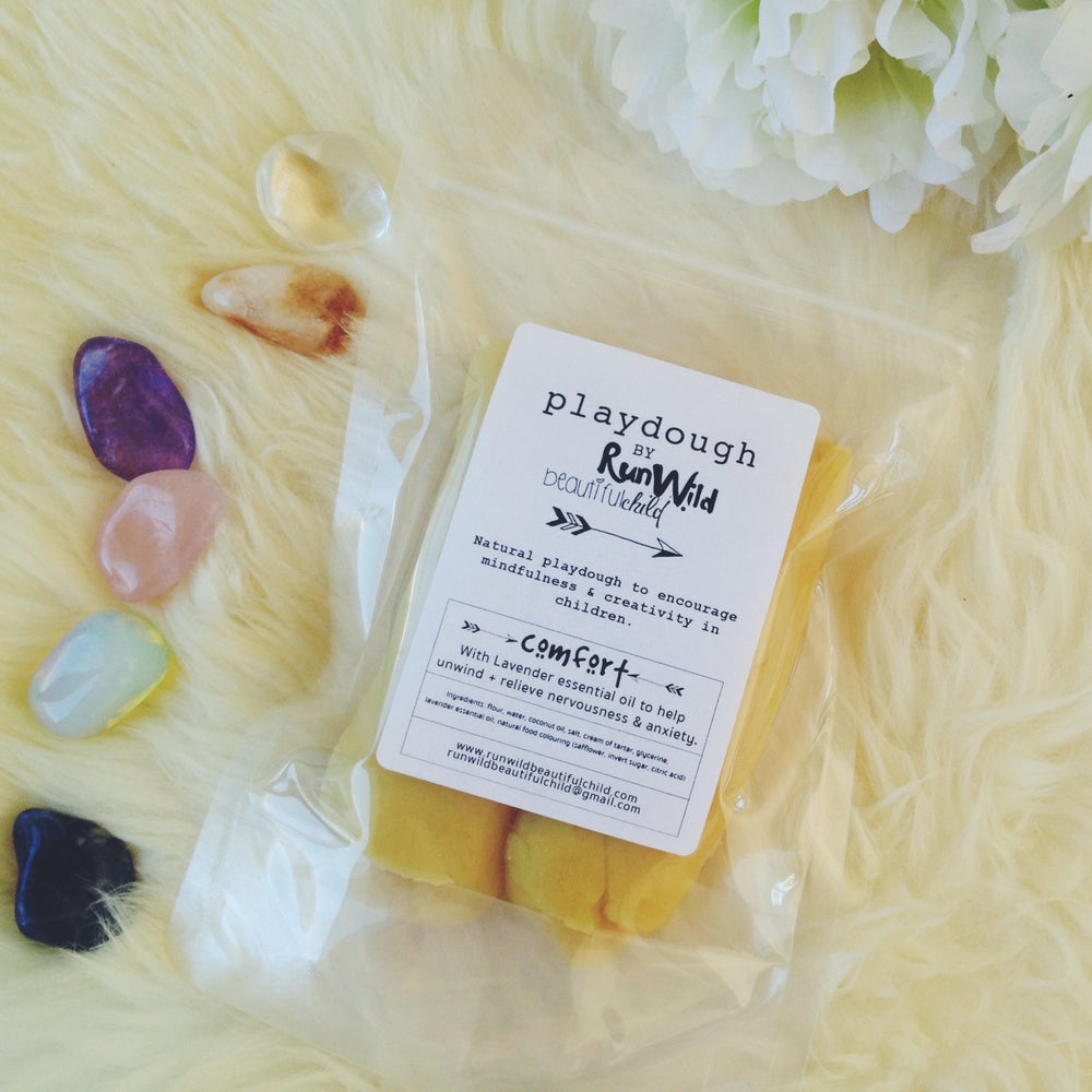 Image of COMFORT: Handmade playdough with lavender essential oil