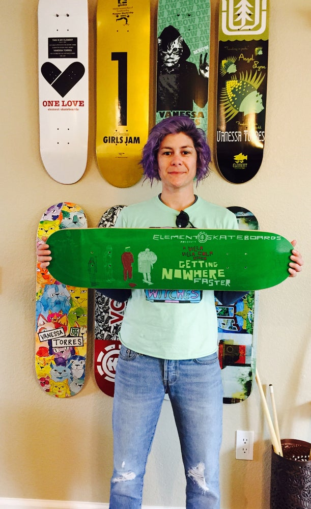Image of Limited edition Element Getting Nowhere Faster deck (last in existence) signed by Vanessa Torres