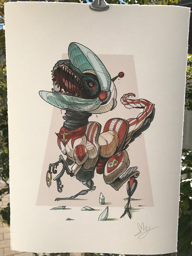 Image of Space Dino - A4