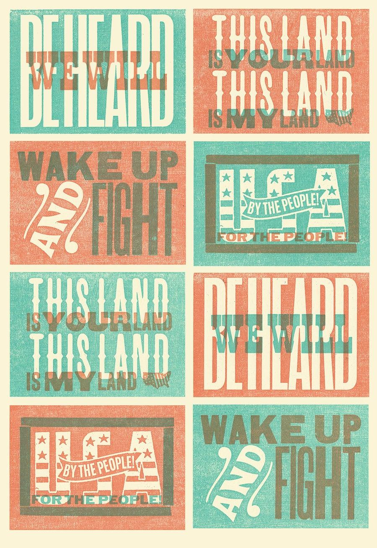 Image of Letterpress Postcards (Set of 5)