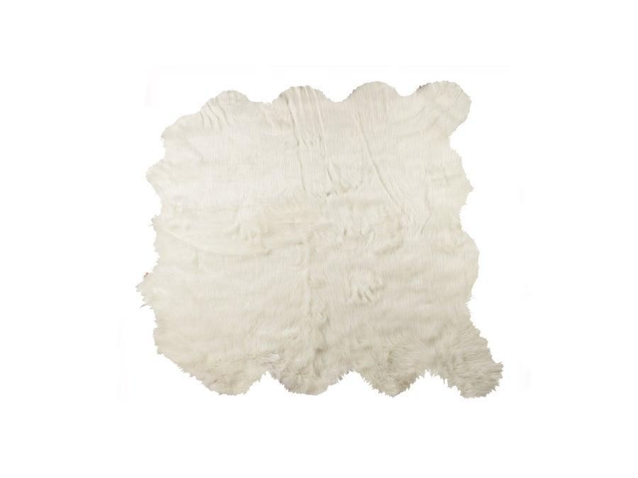 Image of 676685041005 ROYALE GORDON FAUX SHEEPSKIN  FUR RUG OCTO 6' X 6' OFF WHITE