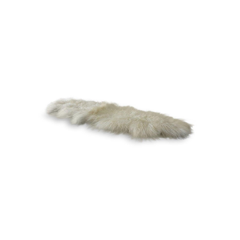 Image of 676685041784 Rockwall Mongolian Sheepskin 2X6 Stone White