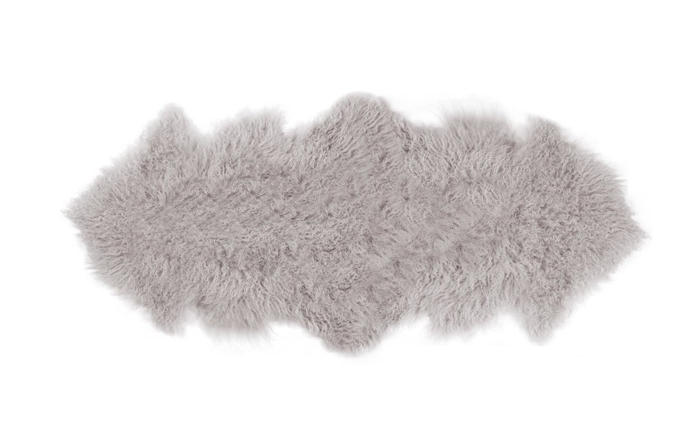 Image of 676685041814 Rockwall Mongolian Sheepskin 2X6 Sage
