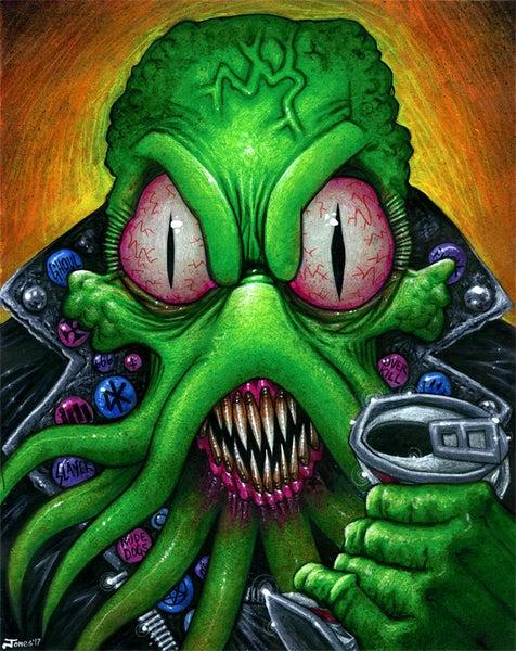 Image of 'Cthulhu Punk' Original Painting