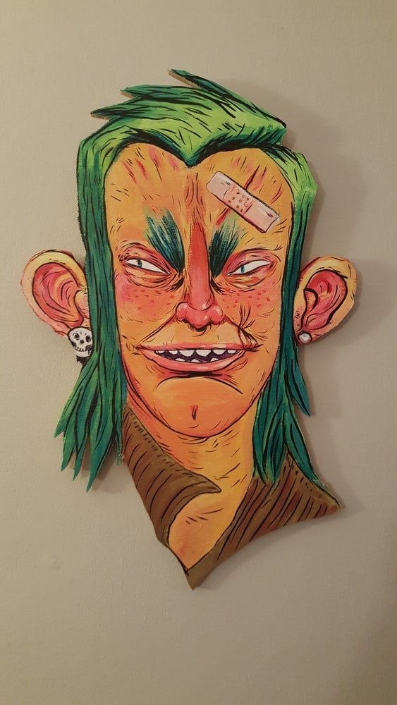 "Image of Potrait on wood ""Roger Klotz"""