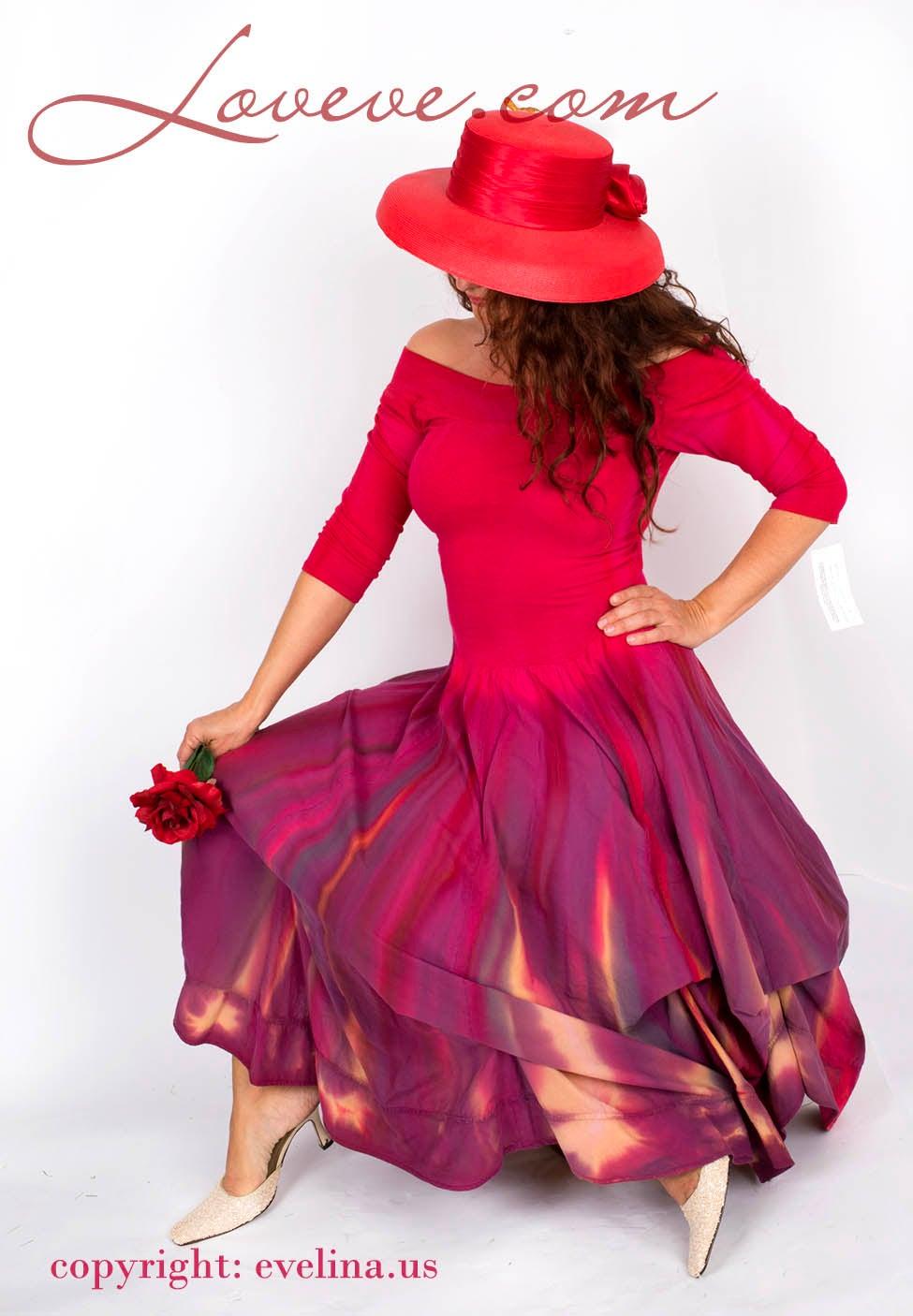 Image of Luna Luz Tie-Dye Boutique Dress with Interior Ties