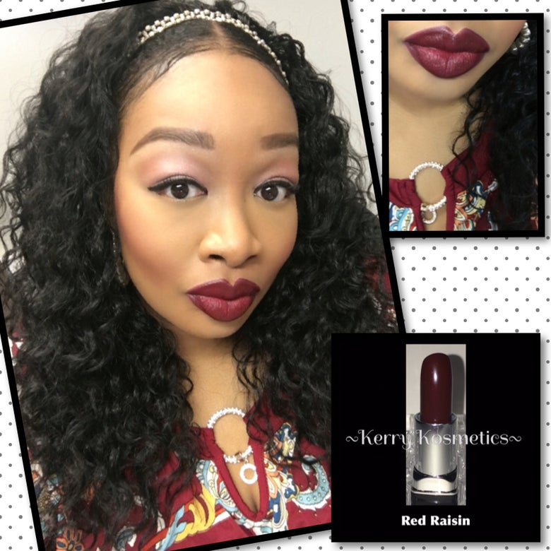 Image of (Matte) Luscious Lipstick- RED RAISIN