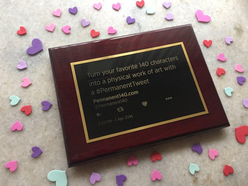 Image of #PermanentTweet brass plaque