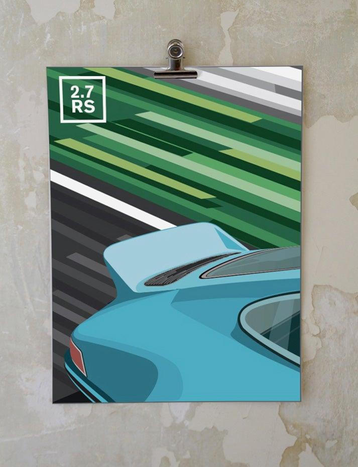 Image of ✭ Nouveauté ✭ Affiche Porsche 911 2.7 RS