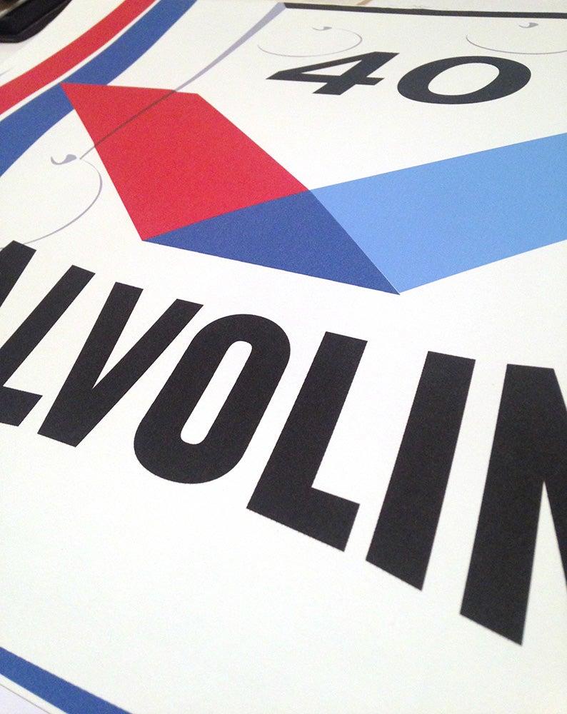 Image of Affiche Porsche 934 Valvoline
