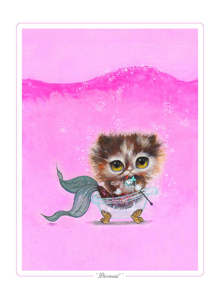 """Image of """"Purrmaid"""" Limited Edition Print"""