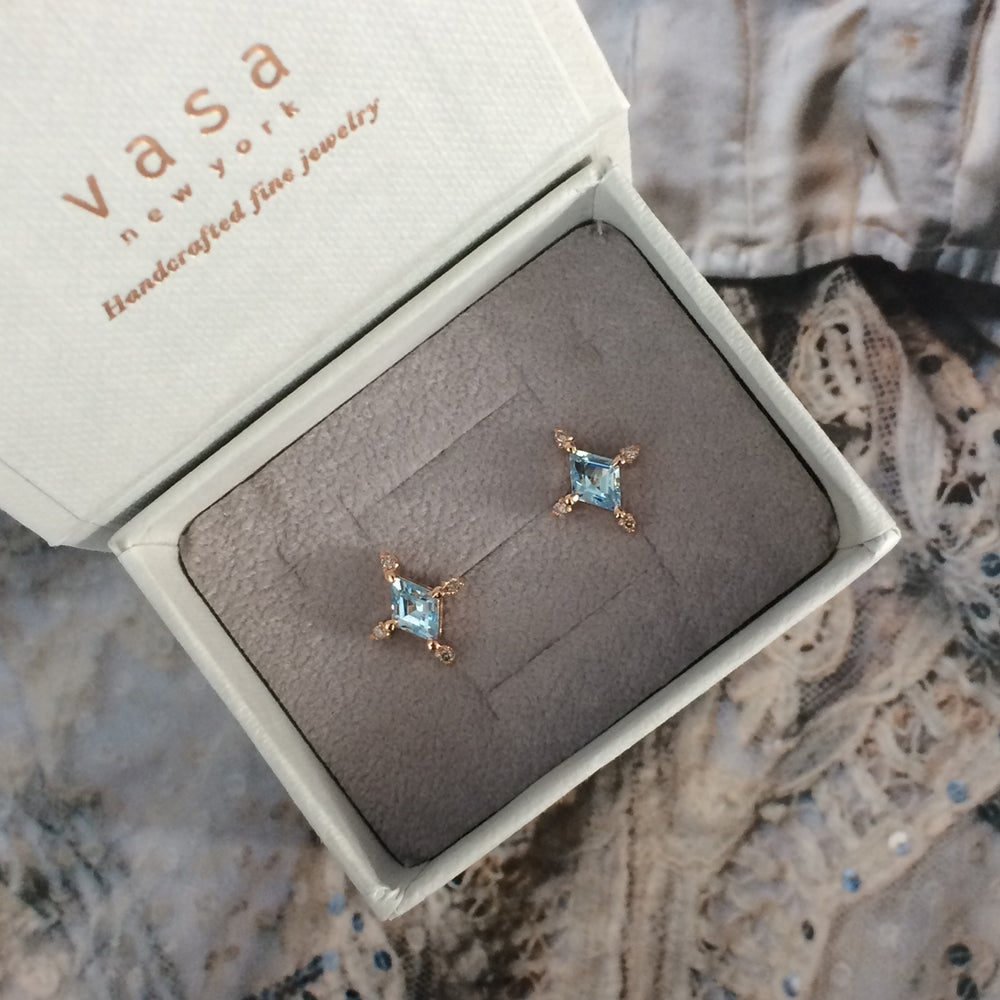 Image of Winter Forest Blue Topaz Earring
