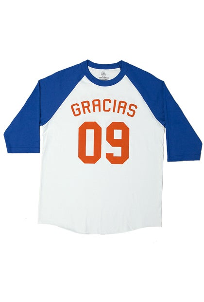Image of Gracias 09' Blue Raglan. #505