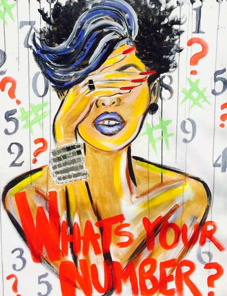 """Image of """"WHATS YOUR NUMBER?"""" Art Print"""