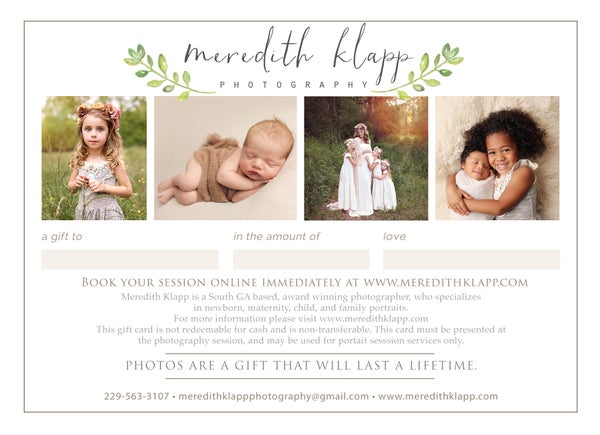 Image of Family Session Gift Card