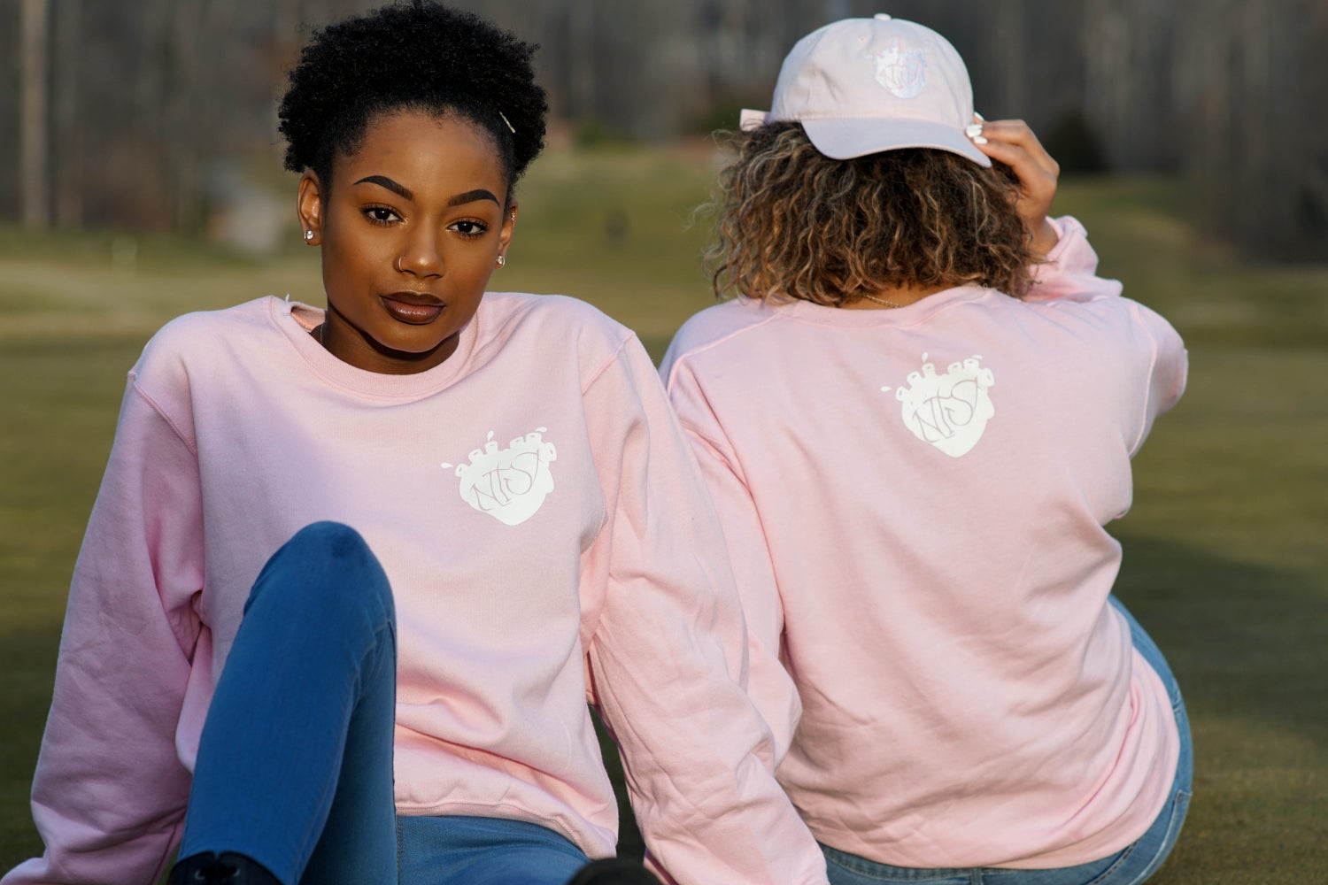 Image of Pink NTS crewneck sweaters