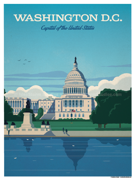 Image of Washington D.C. Capital Poster