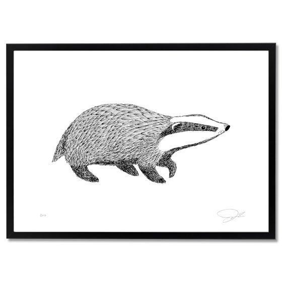 Image of Print: Badger