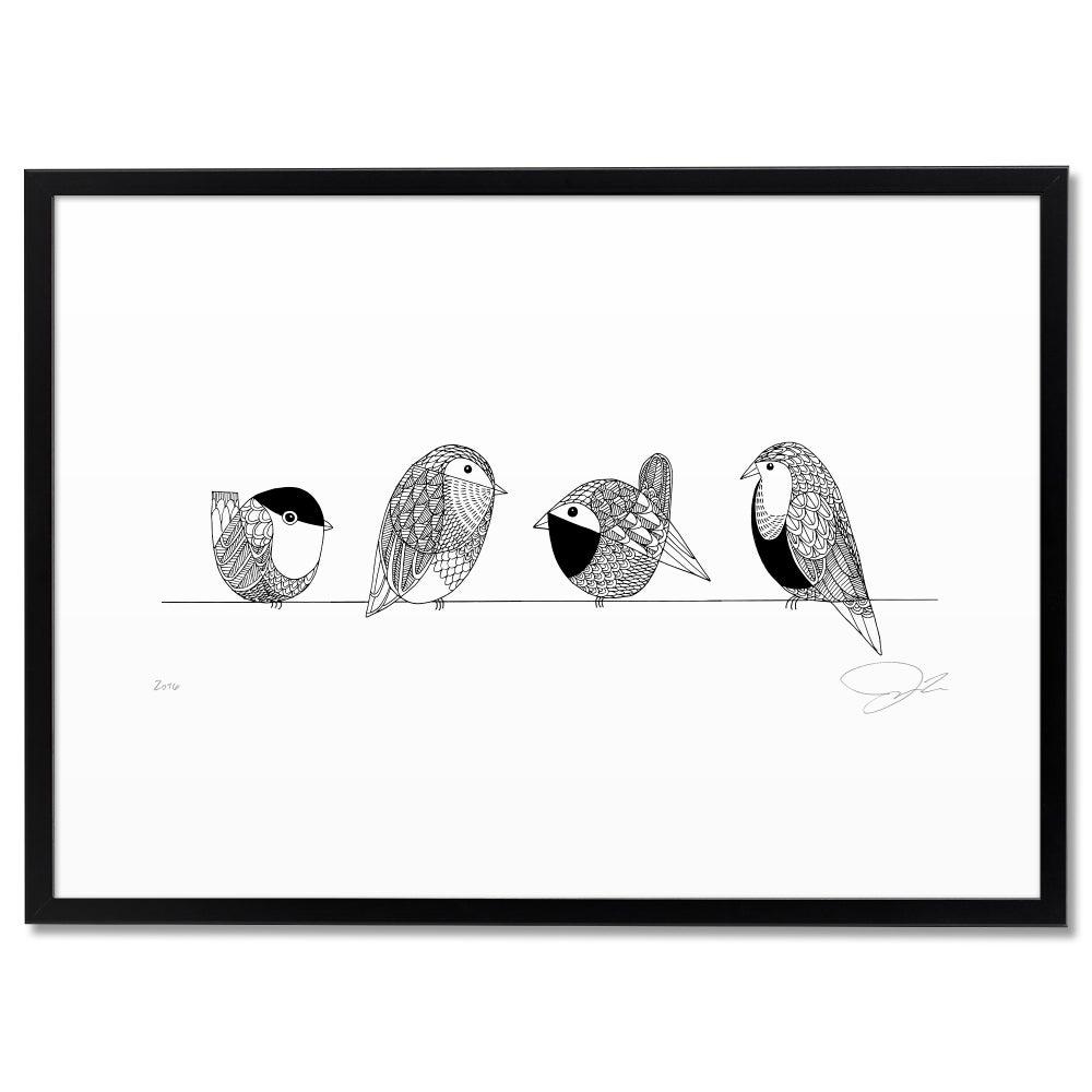Image of Print: Bird Group
