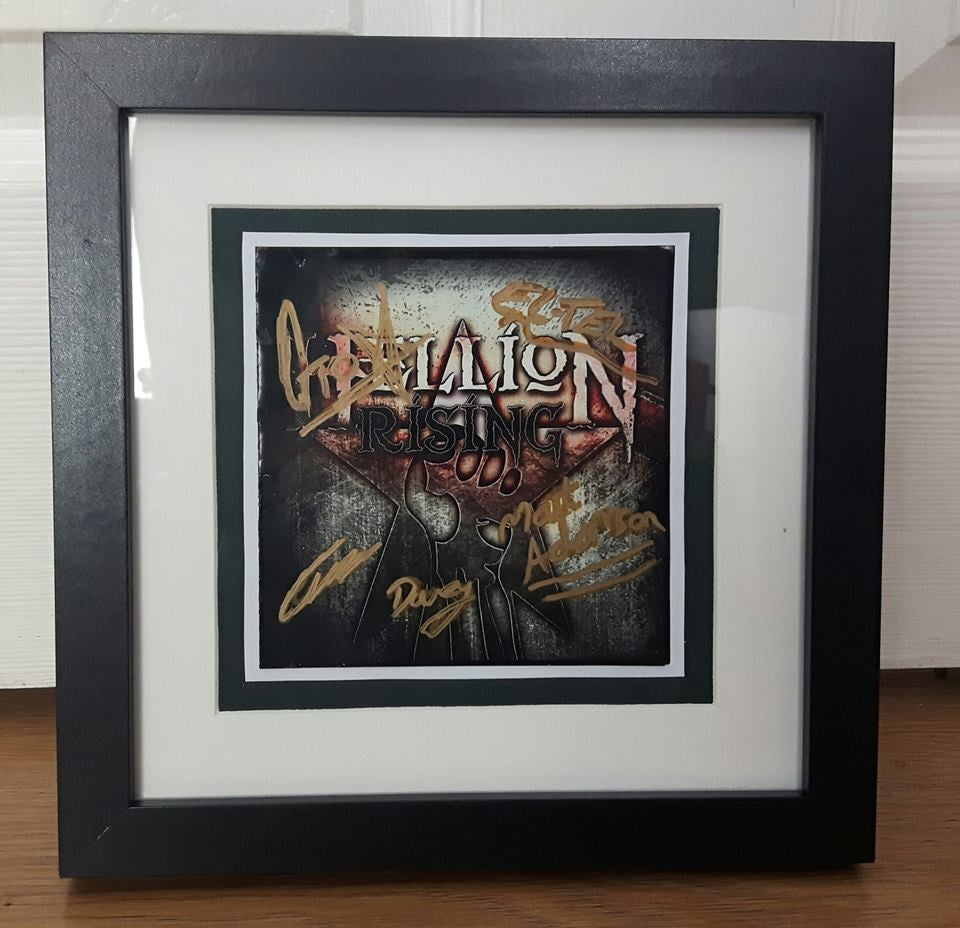 Image of Limited Edition: Framed Hellion Rising 2012 EP - Original Signed Cover Art + Signed Photo