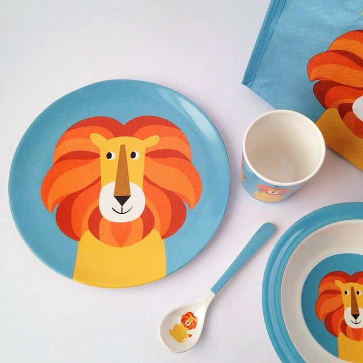 Image of Lion Melamine Mealtime Set