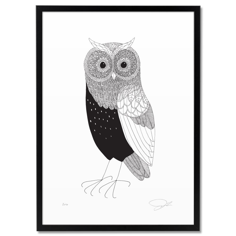 Image of Print: Horned Owl