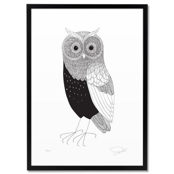 Image of Print: Horned Owl