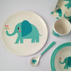 Image of Elephant Melamine Mealtime Set