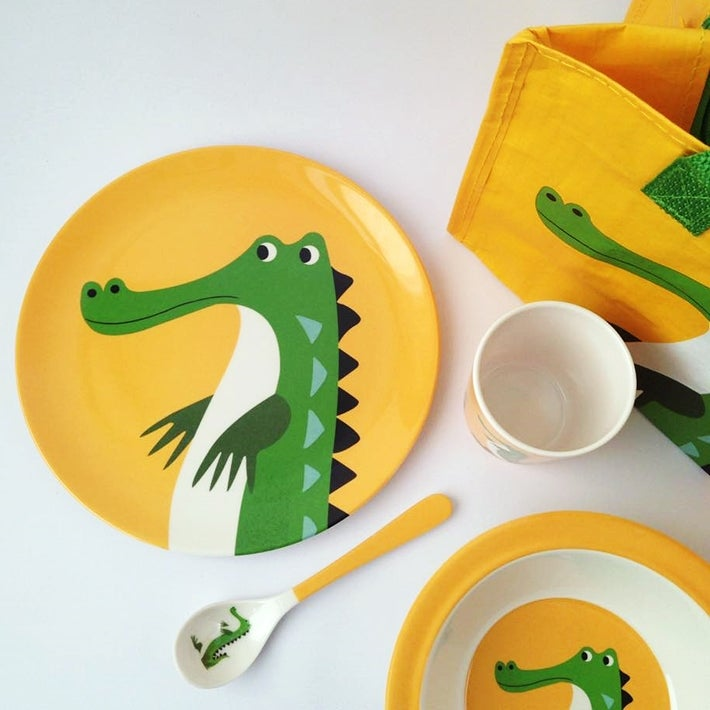 Image of Alligator Melamine Mealtime Set