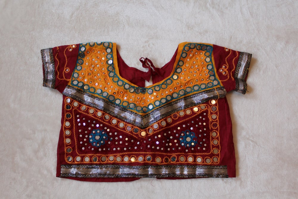 Image of Sunset Embellished Crop Top