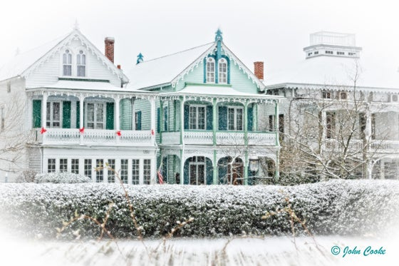 Image of Cape May Snow Covered Victorian Cottages