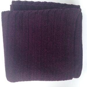 Image of Fishbone Pattern Scarf // Dark plum