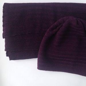 Image of Fishbone Pattern Hat // Dark plum