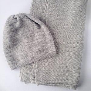 Image of Fishbone Pattern Hat // Light grey