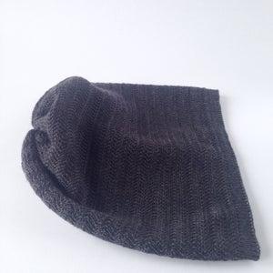 Image of Fishbone Pattern Hat // Dark grey