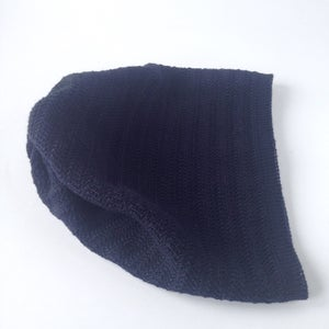 Image of Fishbone Pattern Hat // Dark blue