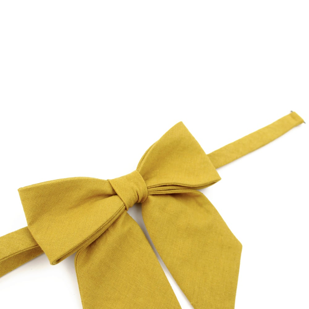 Image of Mustard Linen Lady Bow
